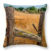 Fence Posts Throw Pillow