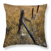 Fence To Nowhere Throw Pillow