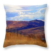 Fence Views Wyoming Color Throw Pillow