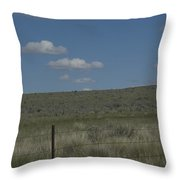 Fenced Clouds Throw Pillow