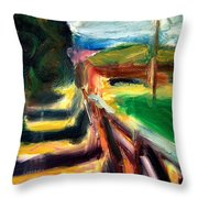 Fenced Parcels Throw Pillow