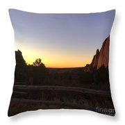 Garden Sunrise Throw Pillow
