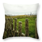 Fences In A Stormy Light Throw Pillow