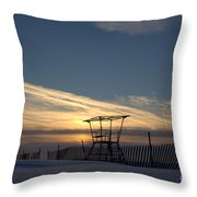 Fencing On Look Out 2 Throw Pillow