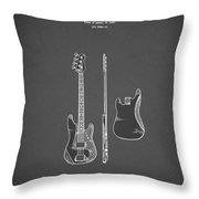 Fender Bass Guitar 1960 Throw Pillow
