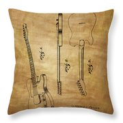 Fender Guitar Patent From 1951 Throw Pillow