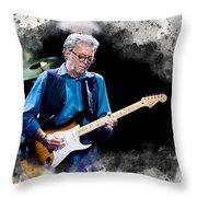 Fender Man Throw Pillow