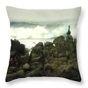 Feng Shui On The Monterey Peninsula Throw Pillow