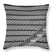 Fenway Park Red Chair Number 21 Bw Throw Pillow