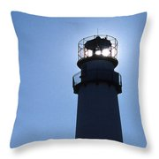 Fenwick Island Lighthouse Throw Pillow by Skip Willits