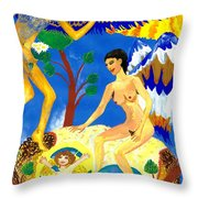 Feral Angels Throw Pillow