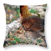 Feral Bird Throw Pillow