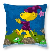 Ferald Sleepwalking Throw Pillow by Keith Williams