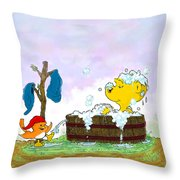 Ferald's Bubble Bath Throw Pillow