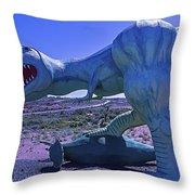 Ferious Dinosaur Trex Throw Pillow