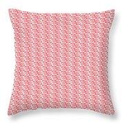 Fermat Spiral Pattern Effect Pattern Red Throw Pillow
