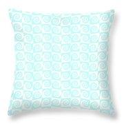 Fermat Spiral Pattern Effect Pattern. Throw Pillow