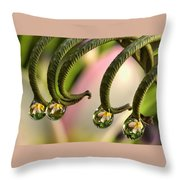 Fern And Plumeria Throw Pillow