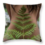 Fern And Woman Throw Pillow