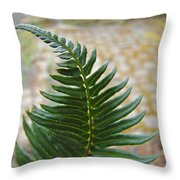 Fern Art Prints Green Garden Fern Branch Botanical Baslee Troutman Throw Pillow