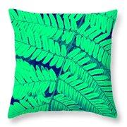 Fern Duotone 03 Throw Pillow
