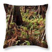 Fern Forest Floor Throw Pillow