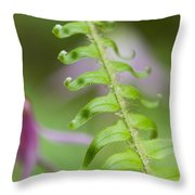 Fern Frond Throw Pillow