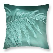 Fern Leaves Abstract 1. Nature In Alien Skin Throw Pillow