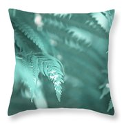 Fern Leaves Abstract 4. Nature In Alien Skin Throw Pillow