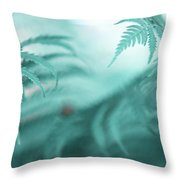 Fern Leaves Abstract. Nature In Alien Skin Throw Pillow