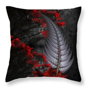 Silver Fern  Throw Pillow