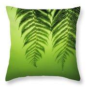 Fern On Green Throw Pillow
