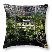 Fern Room Symmetry  Throw Pillow