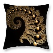 Fern-spiral-fern Throw Pillow