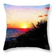 Fernandez Bay Sunset Throw Pillow