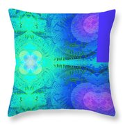 Ferns 2j Hotwax 3 Fractal Plus Throw Pillow