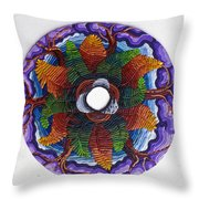 Ferns And Purple Trees Throw Pillow