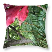 Ferns Come Alive Throw Pillow