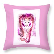 Ferocious Cat Throw Pillow