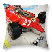 Ferrari 126ck Front Right Museo Ferrari Throw Pillow