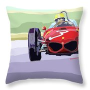 Ferrari 156 Dino 1962 Dutch Gp Throw Pillow by Yuriy  Shevchuk