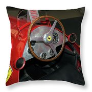Ferrari 166 F2 Cockpit Museo Ferrari Throw Pillow