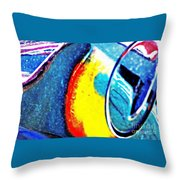 Ferrari 23b Abstract Throw Pillow