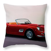 Ferrari 250 Gt California Spyder 1957 Painting Throw Pillow