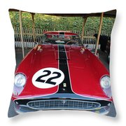 Ferrari 250 Gt Tour De France Throw Pillow