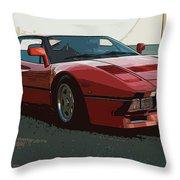 Ferrari 288 Gto - Powerslide Throw Pillow