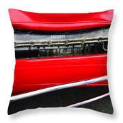 Ferrari 312 F-1 Engine Throw Pillow