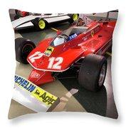 Ferrari 312t4 Front Left Museo Ferrari Throw Pillow