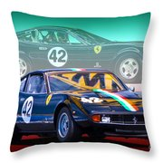 Ferrari 365 Gtc4 Throw Pillow
