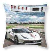 Ferrari 458 Throw Pillow